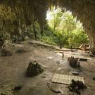 "The Liang Bua cave on the Indonesian island of Flores, where scientists have found evidence of both ""hobbit"" and modern human occupation (University of Wollongong/PA)"