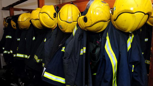 Firefighters rescued the man after he had been trapped for seven hours