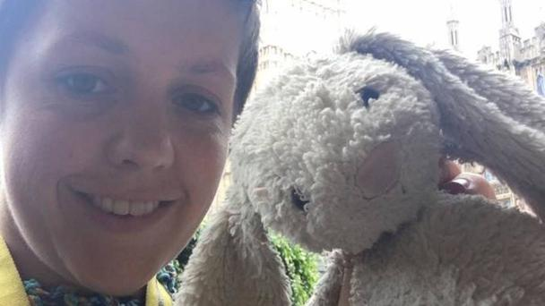 The toy bunny is being looked after by MP Kirsty Blackman (Kirsty Blackman/PA Wire)