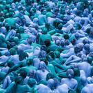 People take part in an installation titled Sea of Hull by artist Spencer Tunick