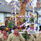 Flitch bearers carry the flitch during the Dunmow Flitch trials