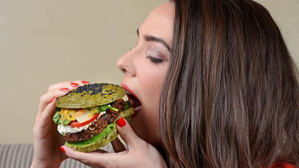 The ultimate superfood meal, created by nutritionist Libby Limon, consisting of a burger, fries and a shake made with over 50 super healthy ingredients (Groupon/PA)
