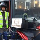 A Kennington Tandoori delivery man heads for Downing Street (Kennington Tandoori/Twitter via PA)