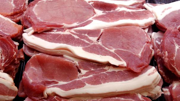 The would-be thief fled after being hit over the head with a packet of bacon