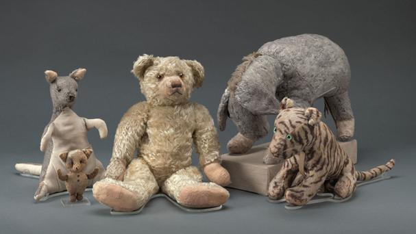 Winnie-the-Pooh and friends in New York after their restoration (New York Public Library's Digital Imaging Unit/Pete Riesett and Steven Crossot via AP)