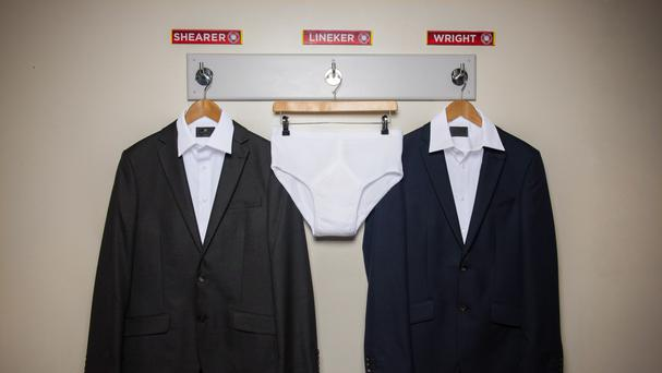A pair of briefs under the name of Gary Lineker for the launch of this season's Match Of The Day (BBC/PA)