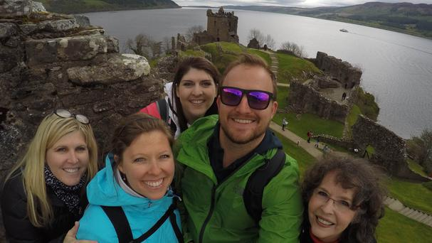 Sheila Flanagan visited Scotland with her family in May (Sheila Flanagan/PA Wire)
