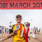 Ultra-marathon runner Dion Leonard met Gobi while competing in a gruelling desert race (4 Deserts Race Series/Gobi March/Onni Cao/PA Wire)