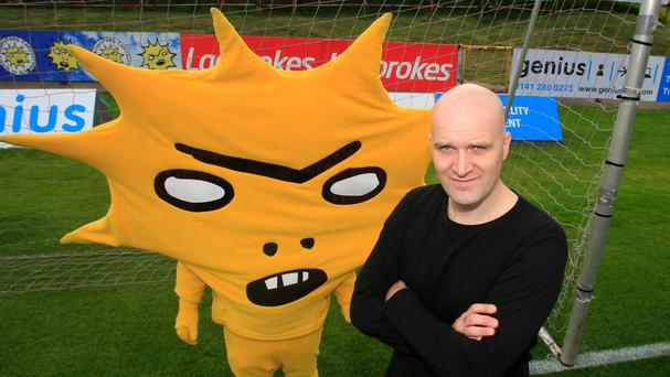 Craig Dunstable is to step into the outfit of spiky yellow character Kingsley (PA/Partick Thistle)