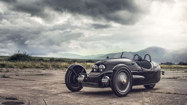 The limited ediition of the Morgan Cars EV3 (Selfridges/PA)