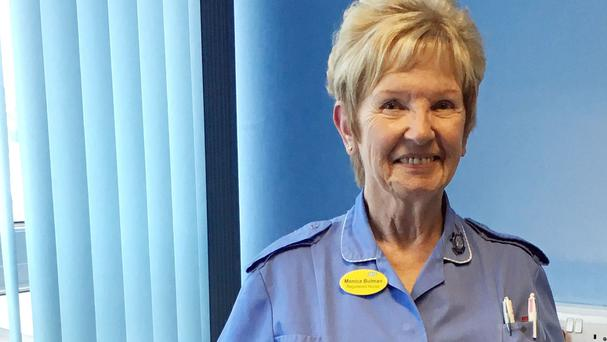 Monica Bulman, who has celebrated her 83rd birthday - and vowed to carry on working (Torbay and South Devon NHS Foundation Trust)