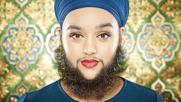 Harnaam Kaur, 24, from Slough, has a Guinness World Record for being the youngest female with a full beard (Paul Michael Hughes/Guinness World Records/PA)