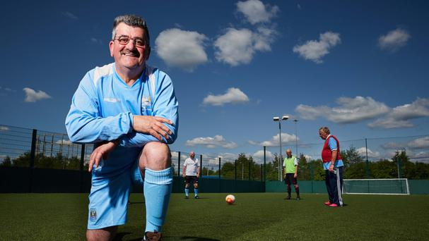 Trefor Philips, one of Manchester City's walking football players in a team with a combined age of more than 700 years (Manchester City Council/PA)