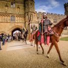 Re-enactors arriving at Battle Abbey in Battle, near Hastings (English Heritage/PA)