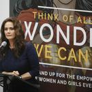 Lynda Carter addresses the UN