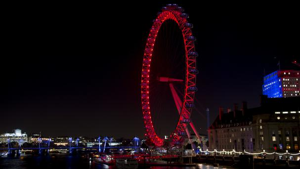 The famous London Eye is in Westminster in London