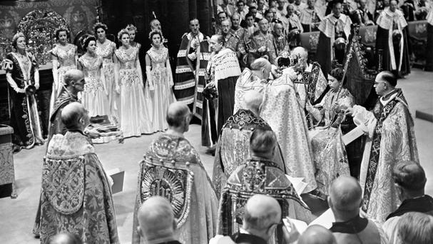 The site features archive material including programming for the Queen's coronation in 1953