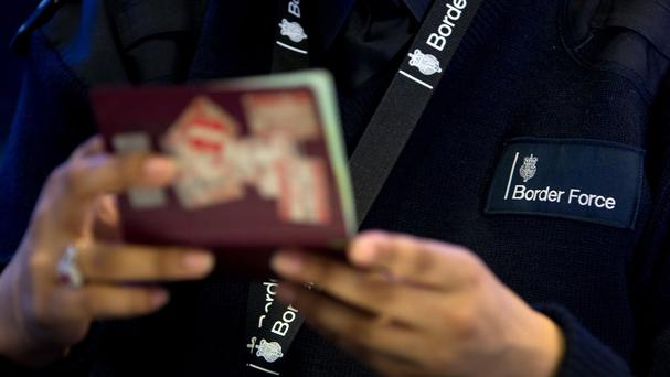 About 45pc of voters in Britain would support having passport checks in place between the UK and Ireland following a 'hard Brexit', a new survey suggests. Stock Photo: PA