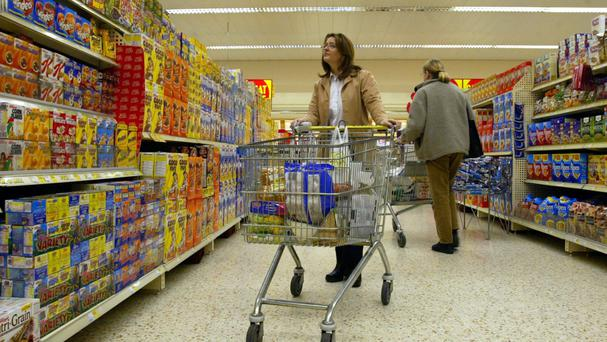 A report has urged supermarkets to introduce special slow lanes for the elderly who wish to chat while they shop