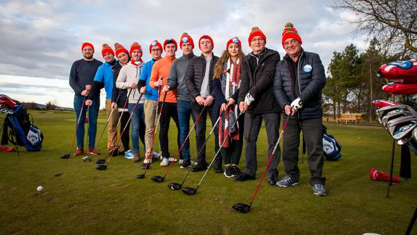 The 'Andrews' played golf as they sampled Scottish life (Fraser Band/VisitScotland/PA Wire)