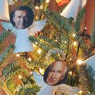 The Christmas tree pays tribute to celebrities who died in 2016 (L3GSV/PA)