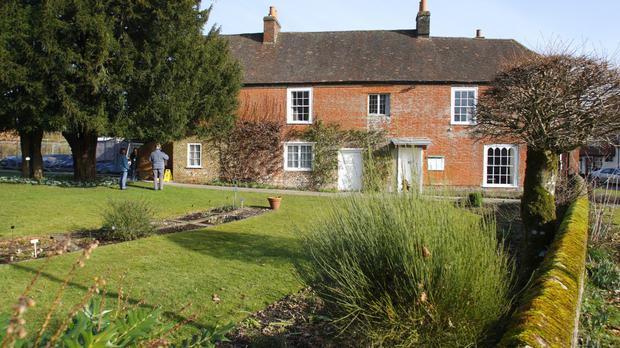 The 17th century house in Chawton, Hampshire where novelist Jane Austen spent the last eight years of her life