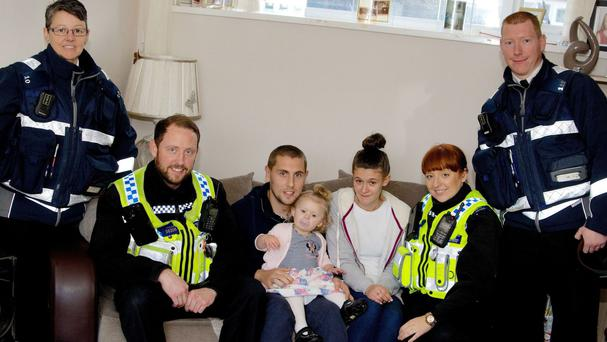 Toddler Amelia Thomas was saved from choking by two parking wardens (South Wales Police/PA Wire)
