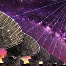 The Very Large Array (VLA) has picked up a mysterious short pulse of radio energy, traced to a dwarf galaxy more than three billion light years away (Artist's impression/University of California/PA)
