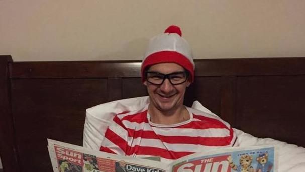 Image taken from the Facebook page of JJ McMenamin of the 30-year-old dressed as Where's Wally