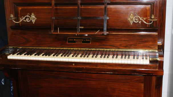 The discovery was made by the piano's new owners when they decided to tune the instrument (British Museum/PA Wire)