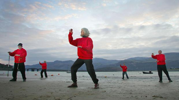 Tai chi can help older people to improve muscle strength and balance, which are imperative in reducing risk of falls