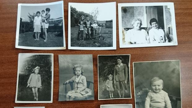 Black and white family photographs found in Newcastle's Eldon Square (Northumbria Police/PA)