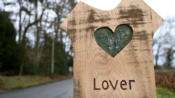 A sign for Lover village in Wiltshire