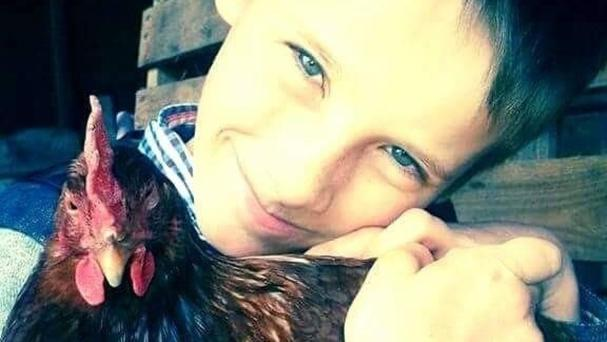 Dominic Wright, 12, dubbed the Chicken Whisperer, who has founded his town's first poultry club
