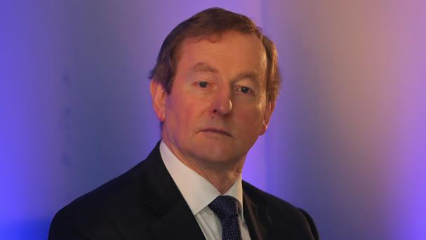 Taoiseach Enda Kenny at a press conference announcing 500 new jobs at recruitment company Indeed in Dublin.