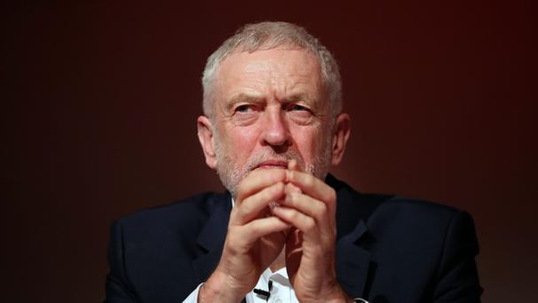 Labour party leader Jeremy Corbyn during the Labour's economic conference at Glasgow Royal Concert Hall.