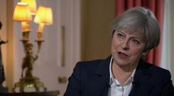 For use in UK, Ireland or Benelux countries only Undated BBC handout video still of Prime Minister Theresa May during an interview with Andrew Neil on BBC1.