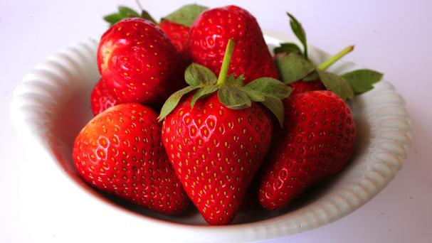 Previous studies have already shown that eating between 10 and 15 strawberries a day can make arteries healthier by reducing blood cholesterol levels. (Stock picture)