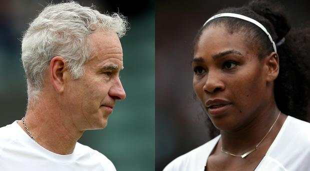 John McEnroe and Serena Williams (EMPICS Sport/Adam Davy/PA)