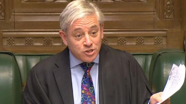 House of Commons Speaker John Bercow (PA/PA Wire)