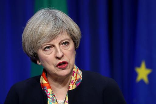 British Prime Minister Theresa May. Picture: PA