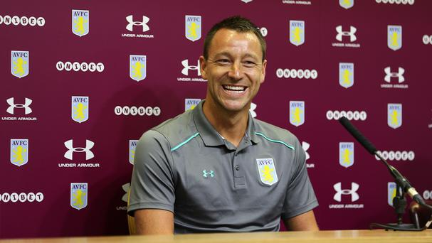 John Terry during the press conference at Villa Park, Birmingham (Aaron Chown/PA)