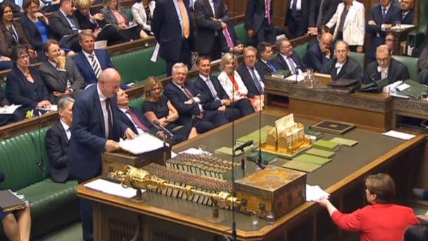 First Secretary of State Damian Green speaks during PMQs (PA/PA Wire)