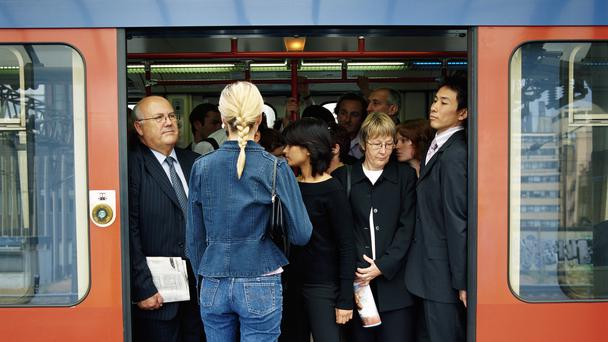 A packed train (Digital Vision/Getty Images/PA)