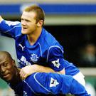 Wayne Rooney scores for Everton as a teenager (Nick Potts/PA)