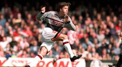David Beckham playing for Manchester United against Southampton – (Matthew Ashton/EMPICS Sport)