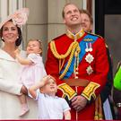 The Royal Family on the balcony of Buckingham Palace (Dominic Lipinski/PA)