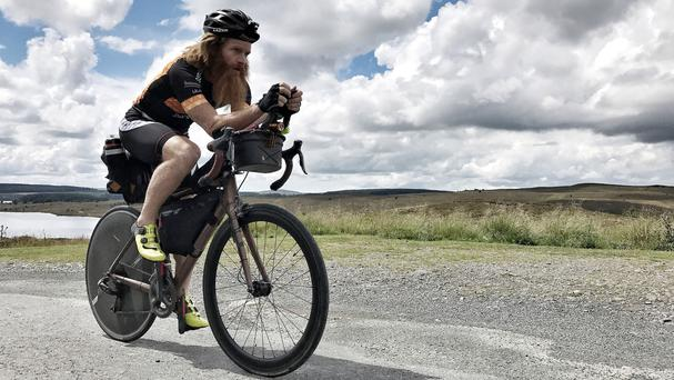 Sean Conway, who will attempt to break the Guinness World Record for the fastest crossing of Europe by bicycle – (Yellow Jersey/PA)