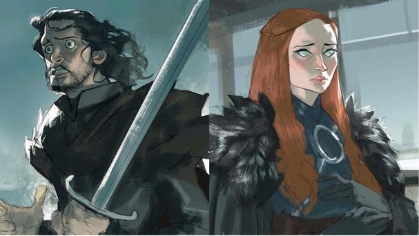 Ramon Nuñez creates illustrations of the Game Of Thrones cast (Ramon Nuñez/PA)