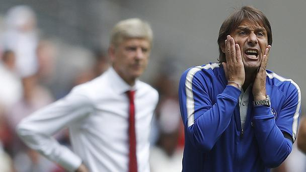 Arsenal manager Arsene Wenger and Chelsea manager Antonio Conte – (Frank Augstein/AP)